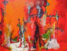p. 095_ARTEFORTE_Forte Larino_Boxart_Marco Cingolani_Gli emblemi del potere_2013_olio su tela_140x180 cm
