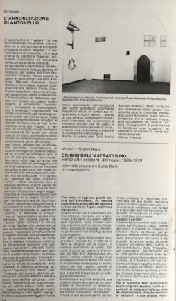 Marisa Vescovo, L'annunciazione di Antonello, Segno gennaio 1980