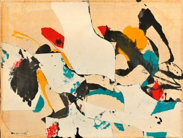 Conrad Marca-Relli, F-S-15-59, 1959 -collage and mixed media on canvas - 66.3 x 86.5 cm.