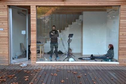 Veduta del Bocs di Dunia Mauro. Con Dario Agrimi
