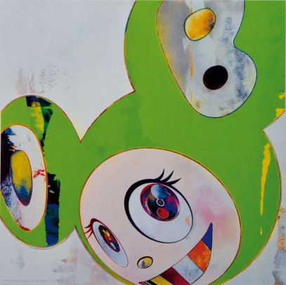 Takashi Murakami, And then,and then, and-then, and then, and then (kappa), 2006 Mixed mediaprint 220/300 cm 50x50