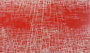 """Massimiliano Galliani, """"Le Strade Del Tempo"""" #4 2013 acrilico + polvere di marmo su tela, cm 90 x 150"""
