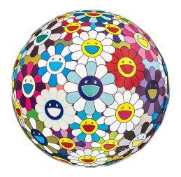 Takashi Murakami, Flower ball (3D) sequoia sempervirens, 2010 Mixed media print 300 °71 cm