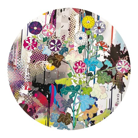 Takashi Murakami,Kansei, abstraction, 2010 Mixed media print 300 °71 cm