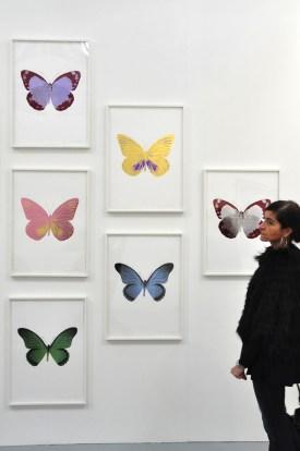 Linda Benglis, Butterflies, 2015. Thomas Brambilla, Bergamo. ArteFiera 2017