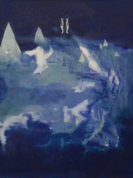 Elisa-Bertaglia-Out-of-the-Blue-2016-olio-e-pastelli-su-carta-102x76-cm