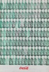 Andy Warhol, green coca cola bottles, 1962