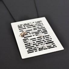 Franco Mello Emilio Isgro le formiche italiane sono piu veloci pendente in argento 2014 ph Carlo Carossio