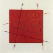 Paolo Minoli, Trasfigurato, 1983, acrilici su tela e rilievi in legno, cm. 120x120, foto Dario Lasagni (Copia)