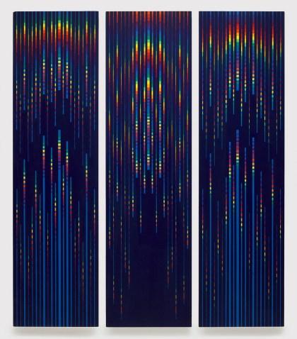 Paolo Minoli, Barocco veneziano, 1996, acrilici su tavola, cm. 110x30 cad., foto Dario Lasagni (Copia)