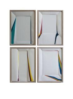 Rainer Splitt, Paperpool, Smalto su carta, 70 x 53 cm (2017)