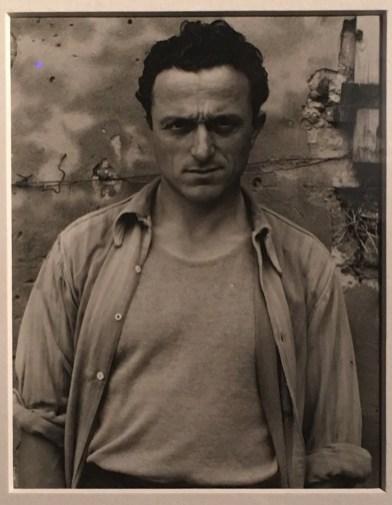 dalla mostra Paul Strand e Cesare Zavattini, Un Paese. La Storia e l'Eredità, © Paul Strand, Young Man, Luzzara, 1953