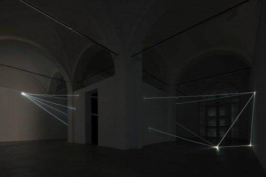 Carlo Bernardini, Oltrelimite, 2017, fibra ottica. Carlo Bernardini, Oltrelimite, 2017, fibra ottica. Foto Roberto Marossi (2)