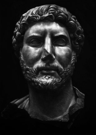 Kepa Garraza, Hadrian (2), Pastel sobre papel, 70 x 50 cm, 2016