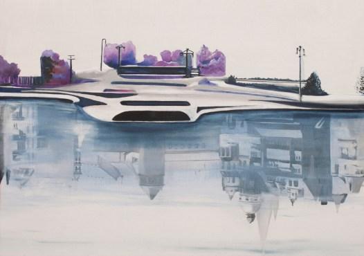 Lucia Lamberti, Schlossfreiheit, olio su tela, cm 30X42, anno 2011
