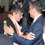 Ettore Spalletti e il sindaco di Pescara Marco Alessandrini