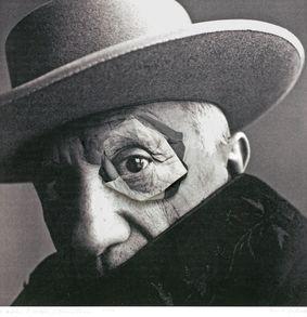 Mario Cresci D'après Picasso Penn, 2015. Dimensioni cm 61x55 - Materiali stampa e collage su carta cotone fine-art - Copia unica