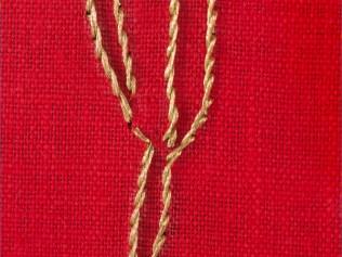 Giovanni Gaggia,particolare dell'opera Miratus Sum, ricamo su lino, cm 40x40 2011, Ostrale 2017
