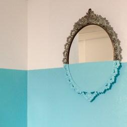 Davide D'Elia, Antitled, 2017, 41x29cm, antifouling paint on old mirror