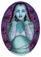 Lisa Petrucci, Miss Monster, 2001, tecnica mista su legno