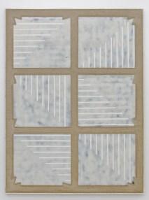 STEFANO CUMIA_White Noise - Striato 11 (SCP-ST = 1 WBWBW 14K), 2014_2017_Egg tempera, oil, pigmented plaster, spray on linen, 200x150cm