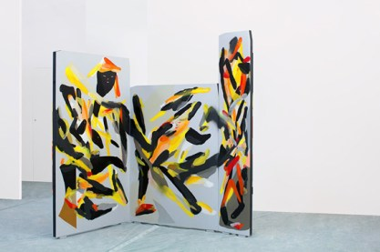 Giorgio Bartocci, Organic Space, Hand-Painted Wooden Panels, Dim.Var. 230x260cm, ph by p. mottadelli, 2015, Courtesy Traffic G