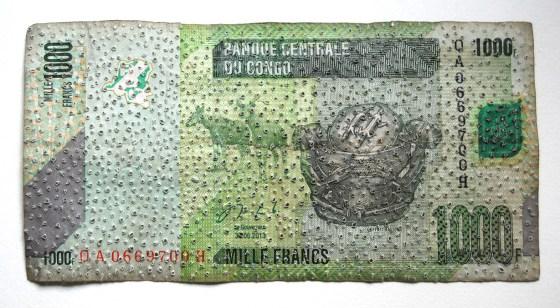 CINZIA BENIGNI Banconota 1000 FC