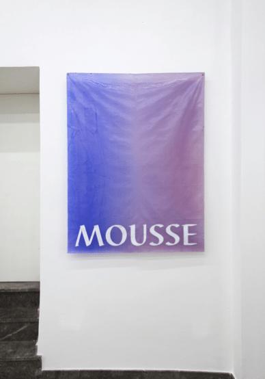 Massimo Stenta, Mousse, acrilico su poliestere, 144x108 cm, 2017