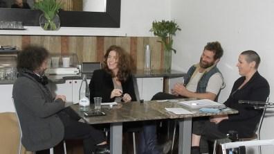 ICEcubes@Raid_Davide Dormino, Rocco Dubbini, Silvia Giambrone e Milena Becci, con una domanda di Claudio Libero Pisano, Bologna 2017, ph Natascia Giulivi