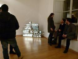 Marco Piantoni. Words 2017, light steel box
