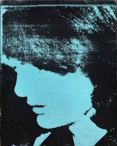 Andy Warhol: Jackie, 1964, serigrafia su tela, 50,5x40,5