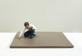 Nando Crippa, Giotto 2018 16,5x47x47 cm terracotta dipinta