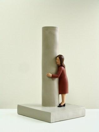 Nando Crippa, Un, due, tre... 2018 50x29x25,5 cm terracotta dipinta