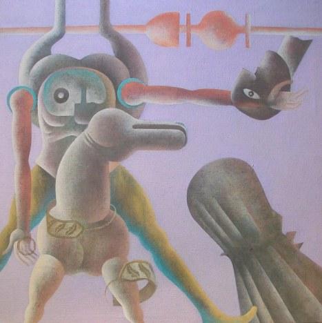 Piero Paladini, med. contemporaneo n¯ 6 cm 100x100 acr su yuta