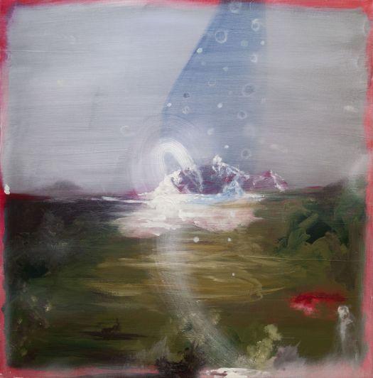 Angelo Bellobono, Terra mossa, 2017, acrilico e olio su tela, 70x70cm