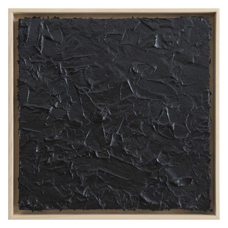 Roberto Coda Zabetta, Untitled 38 (black#000000), 2017, fiberglass su tela, cm 50x50, courtesyAnnetGelinkGallery