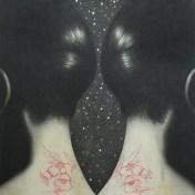 Omar Galliani, Lontano da Xian, 2016, matita su tavola, 180x180 cm