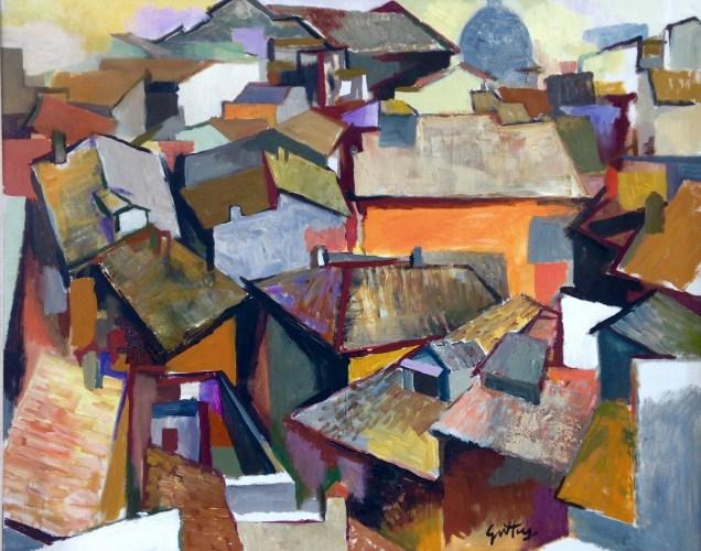 Renato Guttuso, Tetti di Roma, 1957, olio su tela, 64 x 80