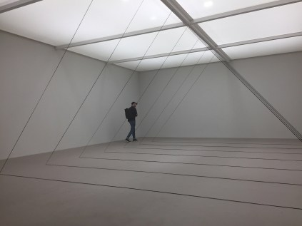 Fred Sandback, Untitled (Sculptural Study, Seven-part Triangular Construction), 1982/2011 - David Zwirner Gallery NY