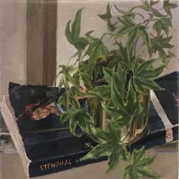 Alberto Torres Hernandez, Love by Stendhal, olio su tela, 20 x 20 cm, 2017