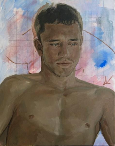 Alberto Torres Hernandez, Wolf's study, olio su tela, 50 x 40 cm, 2016