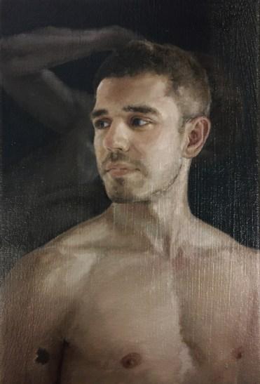 Alberto Torres Hernandez, Wolf Doble, olio su tela, 30 x 20,5 cm, 2017