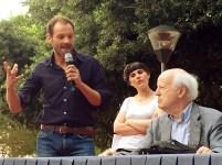 Matteo Montani, Lucia Genovese e Renato Barilli alla cerimonia di inaugurazione