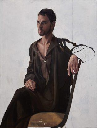 Orquín/Picasso - Retrato de Olga, 90 x 70 cm, olio su tela, 2017