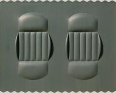 Agostino Bonalumi, Grigio, 1964, 95x120 cm, Tela estroflessa e tempera vinilica