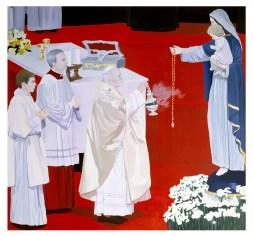 Montesano Gian Marco Montesano Giovanni Paolo II 1986 olio su tela 205x220 cm Foto Paolo Pugnaghi