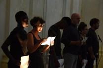 Prophèta 12+1, performance di Giovanni Gaggia, 2018, ex chiesa di San Leonardo, Fano_Arte & Jazz PERFORMING. Foto di Michele Alberto Sereni