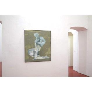 An Ridire Spáinnach (Spanish Knight), 2018. Oil on canvas, 130x110cm. Ph credit Colm MacAthlaoich
