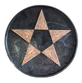 Gilberto Zorio, Stella di Bronzo su cerchio, 134 diam 1997