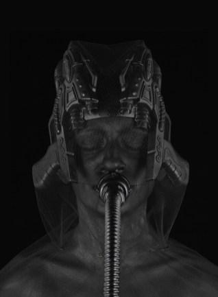Marco Bolognesi, The anxiety of Shaula, 2017, collage corporeo, stampa Fine Art su dibond, 100x70 cm